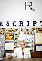John Woodard, pharmacist at Sutton's drugstore in Chapel Hill, NC.