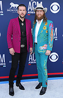 07 April 2019 - Las Vegas, NV - Brothers Osborne, TJ Osborne, John Osborne. 54th Annual ACM Awards Arrivals at MGM Grand Garden Arena. Photo Credit: MJT/AdMedia<br /> CAP/ADM/MJT<br /> &copy; MJT/ADM/Capital Pictures