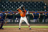 AZL Giants designated hitter Mikey Edie (16) at bat against the AZL Cubs on September 5, 2017 at Scottsdale Stadium in Scottsdale, Arizona. AZL Cubs defeated the AZL Giants 10-4 to take a 1-0 lead in the Arizona League Championship Series. (Zachary Lucy/Four Seam Images)