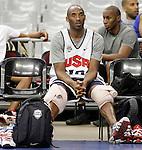 USA's Kobe Bryant during training session.July 23,2012(ALTERPHOTOS/Acero)