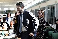 Roma, 20 Settembre 2019<br /> Aula bunker di Rebibbia.<br /> Ilaria Cucchi e Giovanni Musarò.<br /> Processo Cucchi Bis, requisitoria del PM Giovanni Musarò.<br />  Processo Cucchi Bis contro i Carabinieri accusati della morte di Stefano Cucchi