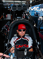 Jul 28, 2019; Sonoma, CA, USA; NHRA top fuel driver Steve Torrence during the Sonoma Nationals at Sonoma Raceway. Mandatory Credit: Mark J. Rebilas-USA TODAY Sports