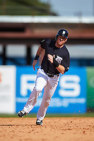 Detroit Tigers Mike Gerber (75) running the bases during an exhibition game against the Florida Southern Moccasins on February 29, 2016 at Joker Marchant Stadium in Lakeland, Florida.  Detroit defeated Florida Southern 7-2.  (Mike Janes/Four Seam Images)