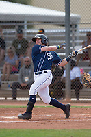 San Diego Padres first baseman Nick Feight (24) during a Minor League Spring Training game against the Seattle Mariners at Peoria Sports Complex on March 24, 2018 in Peoria, Arizona. (Zachary Lucy/Four Seam Images)