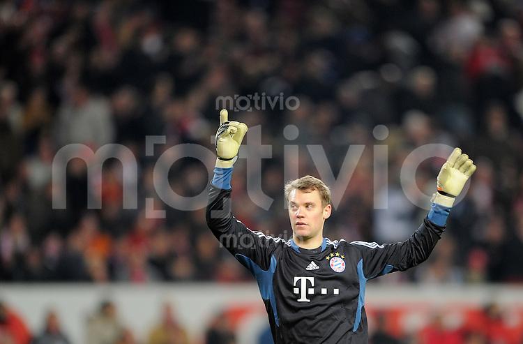 Fussball 1. Bundesliga:  Saison   2011/2012    16. Spieltag VfB Stuttgart - FC Bayern Muenchen  11.12.2011 Torwart Manuel Neuer (FC Bayern Muenchen)