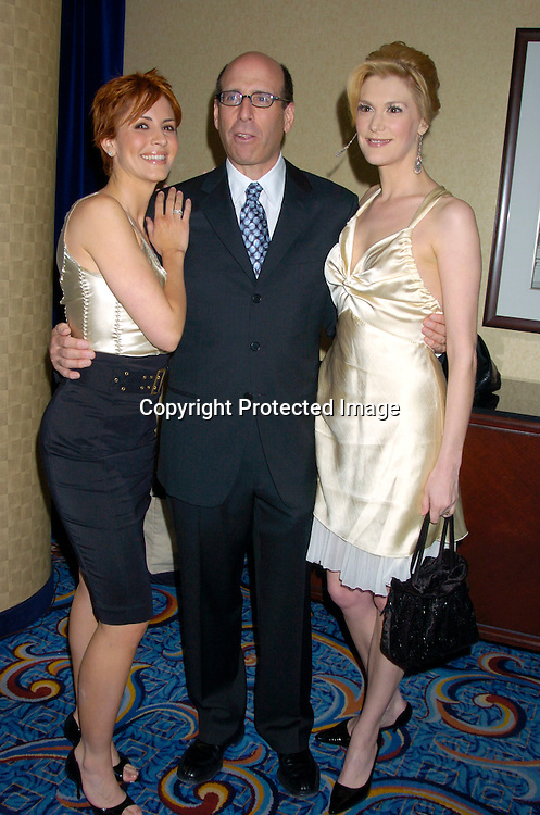 Michelle Clunie and Thea Gill of Queer as Folk with .. Matthew Blank Chairman and CEO of Showtime Networks ..at the Cable Positive benefit of March 30, 2004 at the ..Marriott Marquis Hotel...Photo by Robin Platzer, Twin Images....