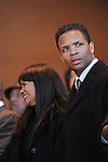 (L-R) Alderman Sandy Jackson and Congressman Jesse Jackson Jr. enter the stage at the inauguration ceremony of Chicago Mayor Elect Rahm Emanuel and other public officials in Millennium Park in Chicago, Illinois on May 16, 2011.