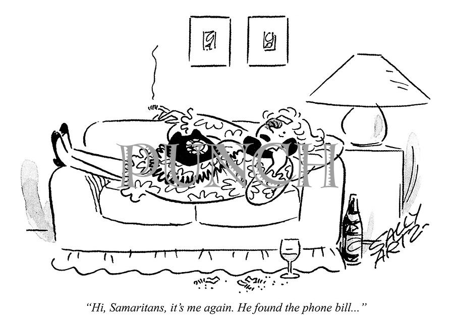 """Hi, Samaritans, it's me again. He found the phone bill..."""