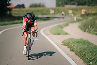 Greg Van Avermaet (BEL/BMC) &quot;flappin' his wings&quot; early on in the race<br /> <br /> 8th Primus Classic 2018 (1.HC)<br /> 1 Day Race: Brakel to Haacht (193km / BEL)