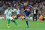 League Santander 2017/2018. Game: 01.<br /> FC Barcelona vs Real Betis: 2-0.<br /> Guardado vs Jordi Alba.