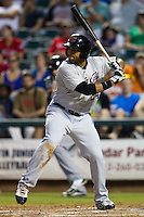 Sacramento River Cats outfielder Jermaine Mitchell #24 at bat during the Pacific Coast League baseball game against the Round Rock Express on May 22, 2012 at The Dell Diamond in Round Rock, Texas. The Express defeated the River Cats 11-5. (Andrew Woolley/Four Seam Images)