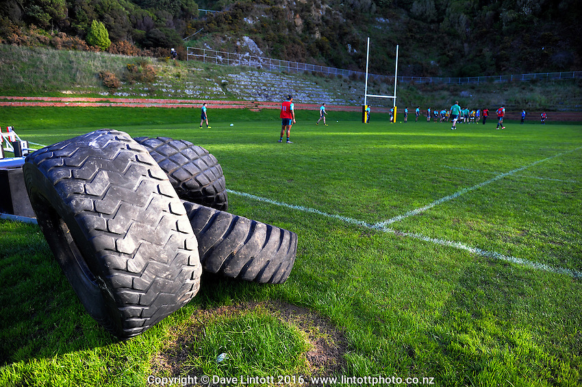 Hurricanes super rugby training at Rugby League Park, Wellington, New Zealand on Tuesday, 12 July 2016. Photo: Dave Lintott / lintottphoto.co.nz