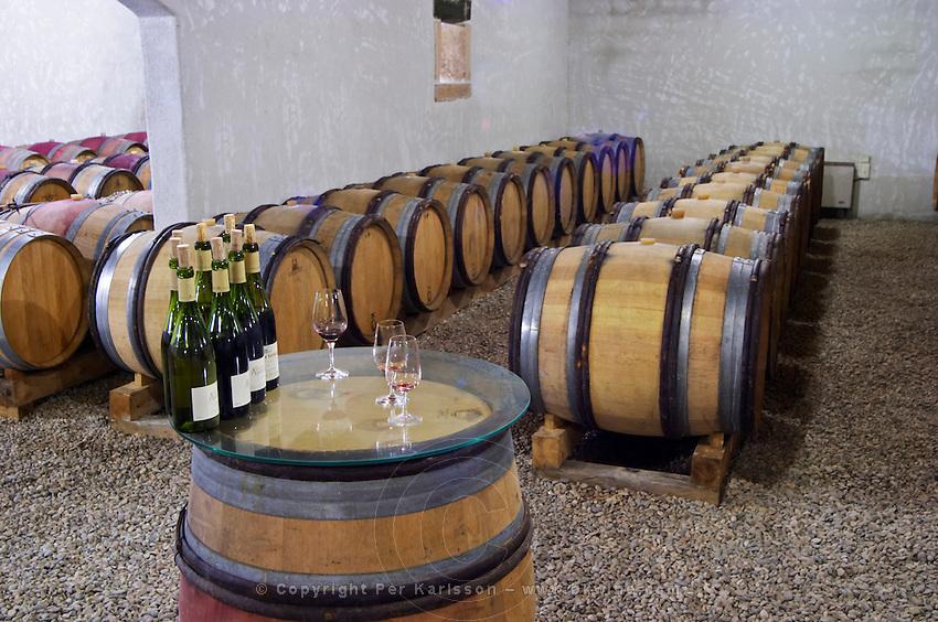 Domaine d'Antugnac. Limoux. Languedoc. Barrel cellar. France. Europe. Bottle.