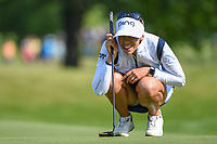 Pernilla Lindberg (SWE) lines up her putt on 11 during the round 1 of the KPMG Women's PGA Championship, Hazeltine National, Chaska, Minnesota, USA. 6/20/2019.<br /> Picture: Golffile | Ken Murray<br /> <br /> <br /> All photo usage must carry mandatory copyright credit (© Golffile | Ken Murray)