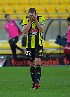 Andrew Durante walks off after the A-League football match between Wellington Phoenix and Adelaide United at Westpac Stadium in Wellington, New Zealand on Saturday, 24 November 2018. Photo: Dave Lintott / lintottphoto.co.nz