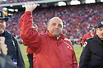 MADISON, WI - OCTOBER 22: Head coach Barry Alvarez of the Wisconsin Badgers waves to the crowd after the game against the Purdue Boilermakers at Camp Randall Stadium on October 22, 2005 in Madison, Wisconsin. The Badgers beat the Hoosiers 31-20. Photo by David Stluka.