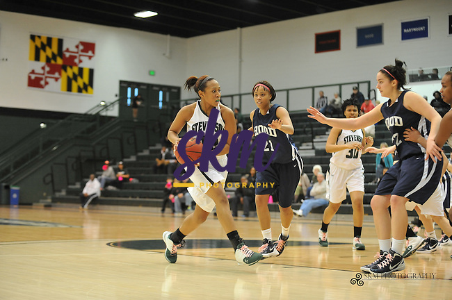 In their next to last home game the Women Mustang trampled the Hood Blazers 60-43.