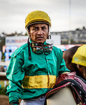 AUG 17: Rafael Bejarano after the Pacific Classic at The Del Mar Thoroughbred Club in Del Mar, California on August 17, 2019. Evers/Eclipse Sportswire/CSM