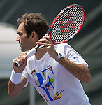 Roger Federer (SUI) Practices At The Miami Open