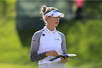 Nelly Korda (USA) on the 18th green during Thursday's Round 1 of The Evian Championship 2018, held at the Evian Resort Golf Club, Evian-les-Bains, France. 13th September 2018.<br /> Picture: Eoin Clarke | Golffile<br /> <br /> <br /> All photos usage must carry mandatory copyright credit (&copy; Golffile | Eoin Clarke)