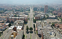 BOGOTA, COLOMBIA - March 23:  Aerial view of an empty Bogota street on March 23, 2020. Colombian government declared a nationwide quarantine from March 24 until April 13 to prevent the spread of the Coronavirus that has 306 confirmed cases in the country at the moment. (Photo by Daniel Munoz/VIEWpress via Getty Images)