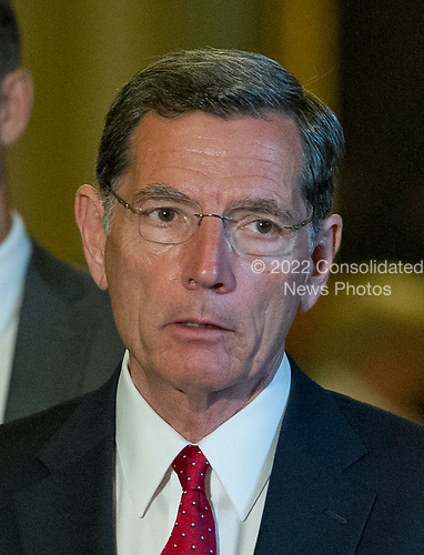 United States Senator John Barrasso (Republican of Wyoming) speaks to reporters following the Republican Party luncheon in the United States Capitol in Washington, DC on Tuesday, July 11, 2017.  <br /> Credit: Ron Sachs / CNP