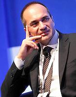 Alberto Baban, Presidente piccola Industria interviene durante il XXIX convegno di Capri per Napoli   dei  Giovani Industriali a Citta della Scienza , 25 Ottobre 2014