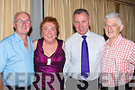 HOSPICE: Enjoying the music and dance in The Carlton Hotel, Tralee on Friday night for the Kerry Hospice Foundation, l-r: Joe Buckley (Beaufort),. Dora Counighan, Dan Galvin and Denis O'Dowd (Tralee)..... ..........