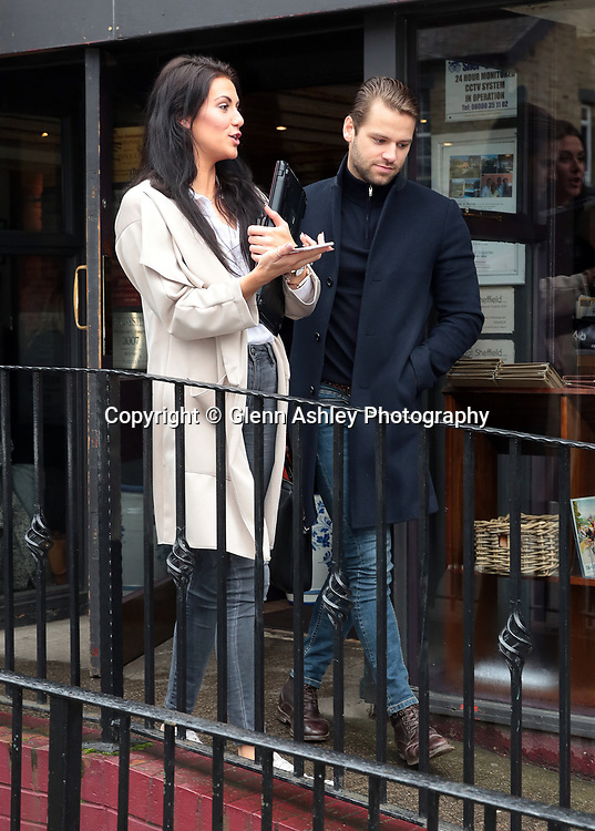 Apprentice stars James Hill and Jessica Cunningham meet at a restaurant in Sheffield, Sheffield, United Kingdom, 18th March 2017. Photo by Glenn Ashley.