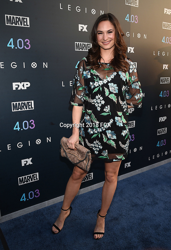 "LOS ANGELES, CA - APRIL 2: Sarah Bellini attends the season two premiere of FX's ""Legion"" at the DGA Theater on April 2, 2018 in Los Angeles, California. (Photo by Frank Micelotta/FX/PictureGroup)"