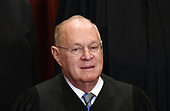 Associate Justice Anthony M. Kennedy poses for a group photograph at the Supreme Court building on June 1 2017 in Washington, DC.  <br /> Credit: Olivier Douliery / Pool via CNP