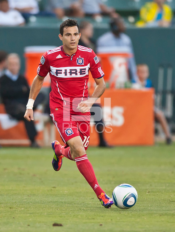 CARSON, CA – July 9, 2011: Chicago Fire Marco Pappa (16) during the match between LA Galaxy and Chicago Fire at the Home Depot Center in Carson, California. Final score LA Galaxy 2, Chicago Fire FC 1.