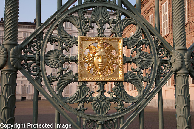Design on the Gate of the Royal Palace in Turin - Torino, Italy