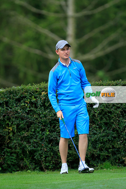 Geoff Lenehan (Portmarnock) on the 6th tee during round 2 of The Mullingar Electrical Scratch Trophy in Mullingar Golf Club on Monday 4th August 2014.<br /> Picture:  Thos Caffrey / www.golffile.ie