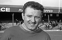 Tommy Moffett, goalkeeper, Linfield FC, Belfast, N Ireland, March 1966, 196603000025<br /> <br /> Copyright Image from Victor Patterson, 54 Dorchester Park, Belfast, UK, BT9 6RJ<br /> <br /> Tel: +44 28 9066 1296<br /> Mob: +44 7802 353836<br /> Voicemail +44 20 8816 7153<br /> Email: victorpatterson@me.com<br /> Email: victorpatterson@gmail.com<br /> <br /> IMPORTANT: My Terms and Conditions of Business are at www.victorpatterson.com