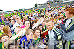 Barry John Keane and Johnny Buckley at Kerry GAA family day at Fitzgerald Stadium on Saturday.