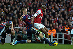Abou Diaby of Arsenal during the  English Premier League soccer match between Arsenal and Stoke City in London,UK,02 February  2012.THOMAS CAMPEAN/Pixel8000 Ltd...
