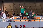 05.01.2019, FNB Stadion/Soccer City, Nasrec, Johannesburg, RSA, TL Werder Bremen Johannesburg Tag 03<br /> <br /> im Bild / picture shows <br /> Eine Werder-Delegation besucht das Heimspiel / Ligaspiel der Kaizer Chiefs vs Mamelodi Sundwons, auf der VIP-Tribüne sind unter anderem die Spieler Claudio Pizarro (Werder Bremen #04), Sebastian Langkamp (Werder Bremen #15), Theodor Gebre Selassie (Werder Bremen #23), <br /> <br /> Foto © nordphoto / Ewert