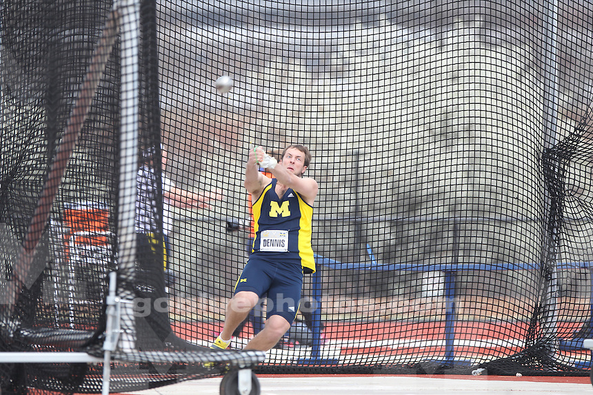 The University of Michigan men's track and field team competed at Virginia against both Virginia and California. Charlottesville, VA. April 5, 2014