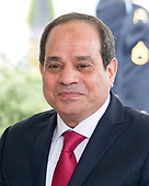 President Abdel Fattah Al Sisi of Egypt as he arrives at the White House for talks with United States President Donald J. Trump  in Washington, DC on Monday, April 3, 2017.<br /> Credit: Ron Sachs / CNP