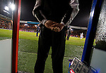 Crystal Palace 1 Huddersfield Town 1, 22/12/2012. Selhurst Park, Championship. Promotion chasing Crystal Palace aim to halt a poor run of form against lowly Huddersfield. The fourth offical in the technical area. Photo by Simon Gill.