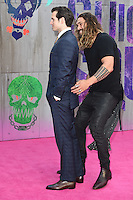 "Henry Cavill and Jason Momoa<br /> arrives for the ""Suicide Squad"" premiere at the Odeon Leicester Square, London.<br /> <br /> <br /> ©Ash Knotek  D3142  03/08/2016"