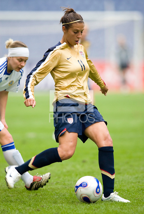 Carli Lloyd. The U.S. defeated Finland, 4-1 during the Four Nations Tournament in  Guangzhou, China on January 18, 2008.