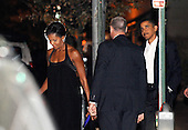 Washington, DC - October 3, 2009 -- United States President Barack Obama and First Lady Michelle Obama leave the Blue Duck Tavern in West End (between Dupont Circle and Georgetown), Saturday, October 3, 2009  in Washington D.C. The Obamas celebrated their seventeenth wedding anniversary..Credit: Olivier Douliery / Pool via CNP