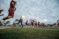 NWA Democrat-Gazette/ANTHONY REYES • @NWATONYR<br /> Springdale against Bixby, Okla., Friday, Sept. 18, 2015 at Jarrell Williams Bulldog Stadium in Springdale.