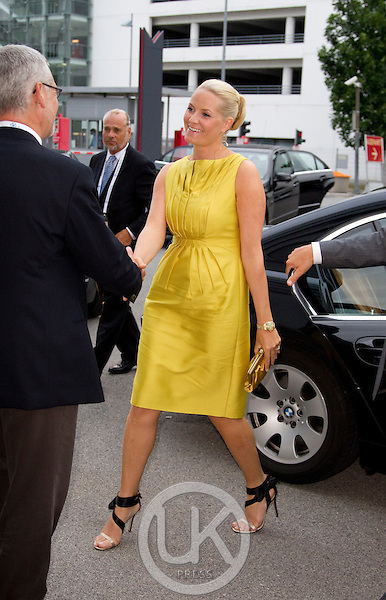 Crown Princess Mette Marit of Norway on a three day visit to Vienna to attend the 18th International UNAIDS Conference..Attends the Official opening at The Vienna Congress Centre.