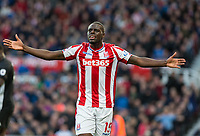 Bruno Martins Indi of Stoke City during the Premier League match between Stoke City and Manchester United at the Britannia Stadium, Stoke-on-Trent, England on 9 September 2017. Photo by Andy Rowland.