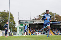 Marcus Bean of Wycombe Wanderers has a fitness test ahead of the Sky Bet League 2 match between Yeovil Town and Wycombe Wanderers at Huish Park, Yeovil, England on 8 October 2016. Photo by Mark  Hawkins / PRiME Media Images.