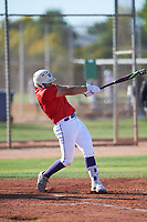 Seth Sanchez (50), from Weslaco, Texas, while playing for the Red Sox during the Under Armour Baseball Factory Recruiting Classic at Gene Autry Park on December 30, 2017 in Mesa, Arizona. (Zachary Lucy/Four Seam Images)