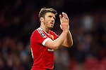 Michael Carrick of Manchester United applauds the fans during the Emirates FA Cup match at Old Trafford. Photo credit should read: Philip Oldham/Sportimage